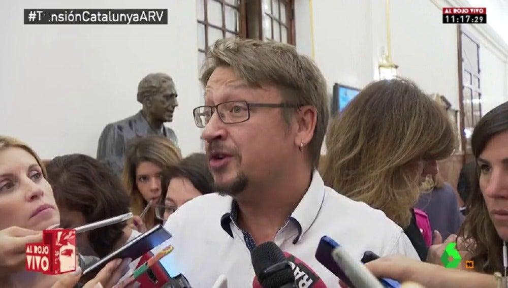El portavoz de En Comù Podem en el Congreso, Xavier Domènech