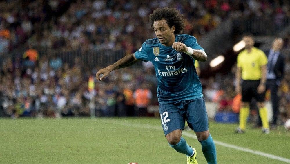 Marcelo, durante un partido con el Real Madrid