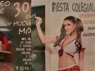 Imágenes incluidas en el anuncio de un prostíbulo de Huelva