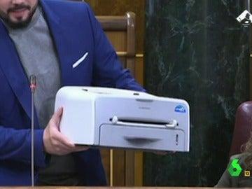 La impresora de Rufián en El Intermedio