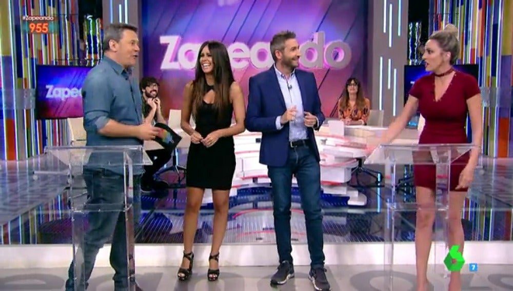 Miki Nadal, Cristina Pedroche, Frank Blanco y Anna Simon en Zapeando