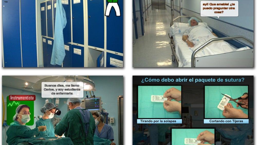 Imágenes del videojuego Toma de contacto con el bloque quirúrgico. / Manel Giner.
