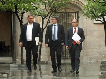 Junqueras, Puigdemont y Turull