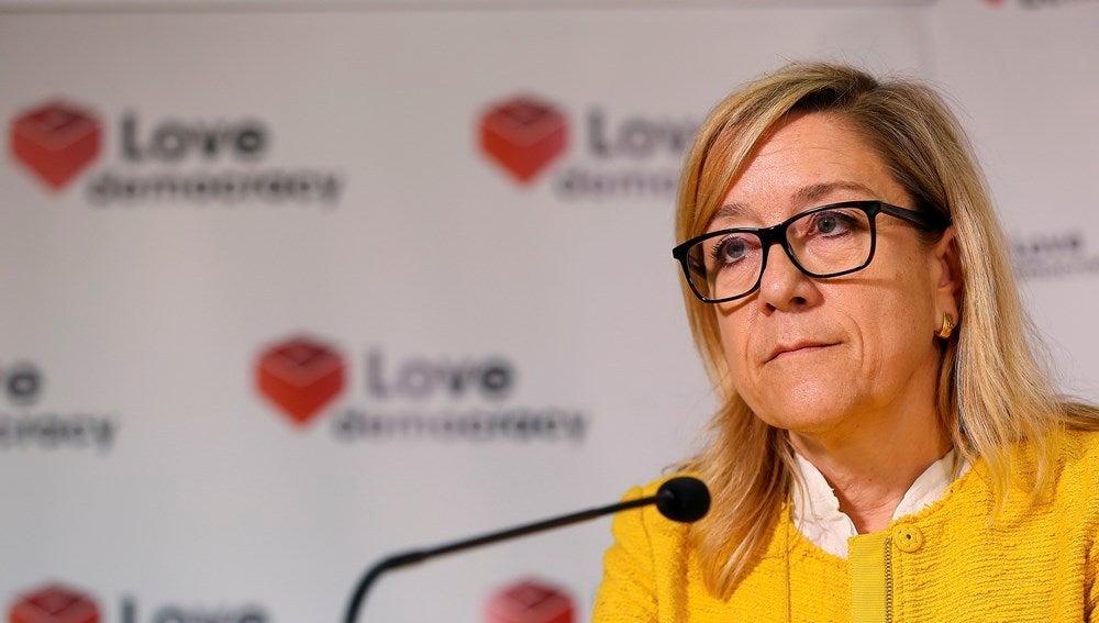 La presidenta de la Asociación de Municipios por la Independencia, Neus Lloveras