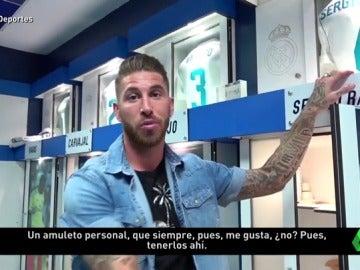 Sergio Ramos desvela los amuletos que guarda en su taquilla