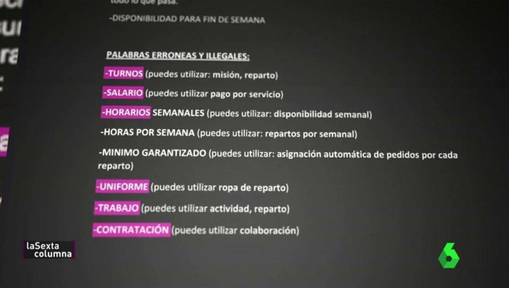 Horarios, salario, uniforme... las palabras prohibidas de Deliveroo para evitar problemas legales con sus 'autónomos'