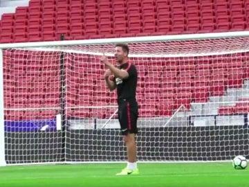 Simeone anuncia que marcará el primer gol del Wanda Metropolitano