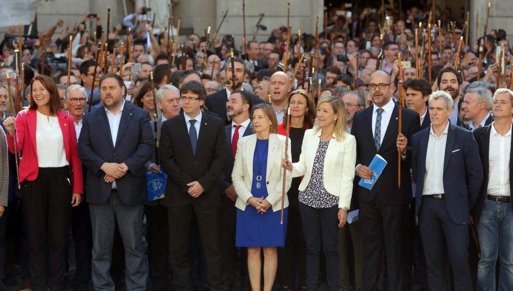 Acto en Barcelona a favor del referéndum