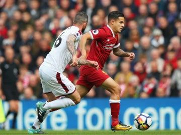 Coutinho, con el Liverpool