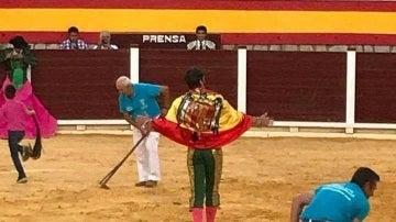Padilla, con la bandera franquista