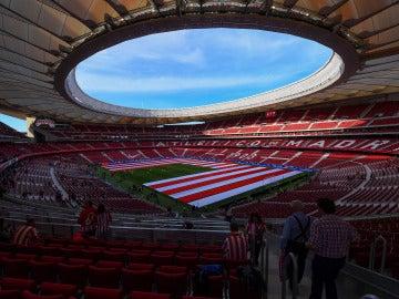 El Wanda Metropolitano, a pocos minutos de su estreno oficial
