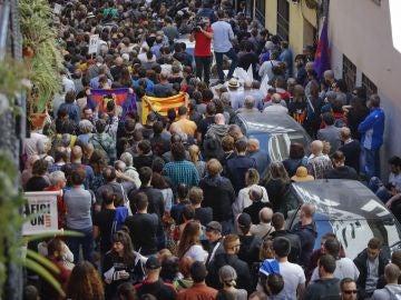 Cientos de personas asisten al acto a favor del referéndum soberanista en Cataluña