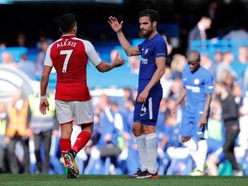 Chelsea - Arsenal, Cesc y Alexis
