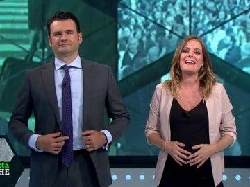 Andrea Ropero con Iñaki López