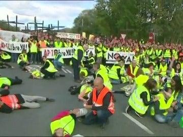 Los manifestantes de la Plataforma N-1