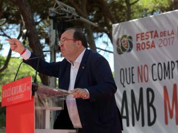 Miquel Iceta, durante un acto en Cataluña