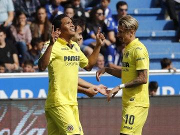 Bacca celebra un gol con el Villarreal