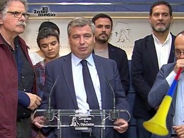 Aitor Esteban y Carles Campuzano en el Congreso