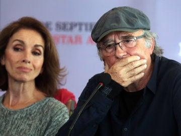 Los artistas Joan Manuel Serrat y Ana Belén
