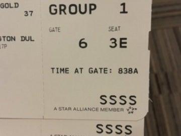 Un billete de embarque a EEUU