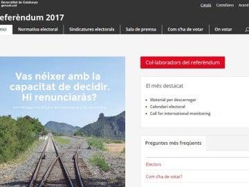 Web para consultar los colegios electorales donde votar en el referéndum del 1-O