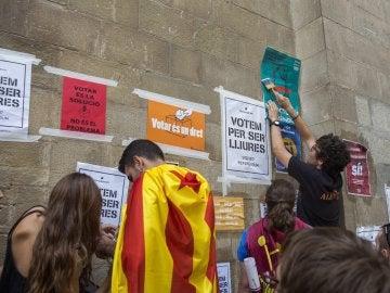 Concentración de estudiantes en Lleida por el 1-O