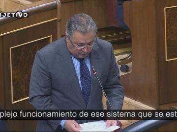 Juan Ignacio Zoido, ministro de Interior, en el Congreso de los Diputados.