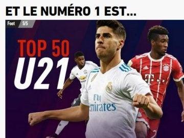 Asensio, mejor sub 21 del mundo para L'Equipe