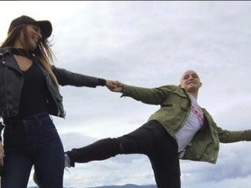 Yeray Álvarez y su novia