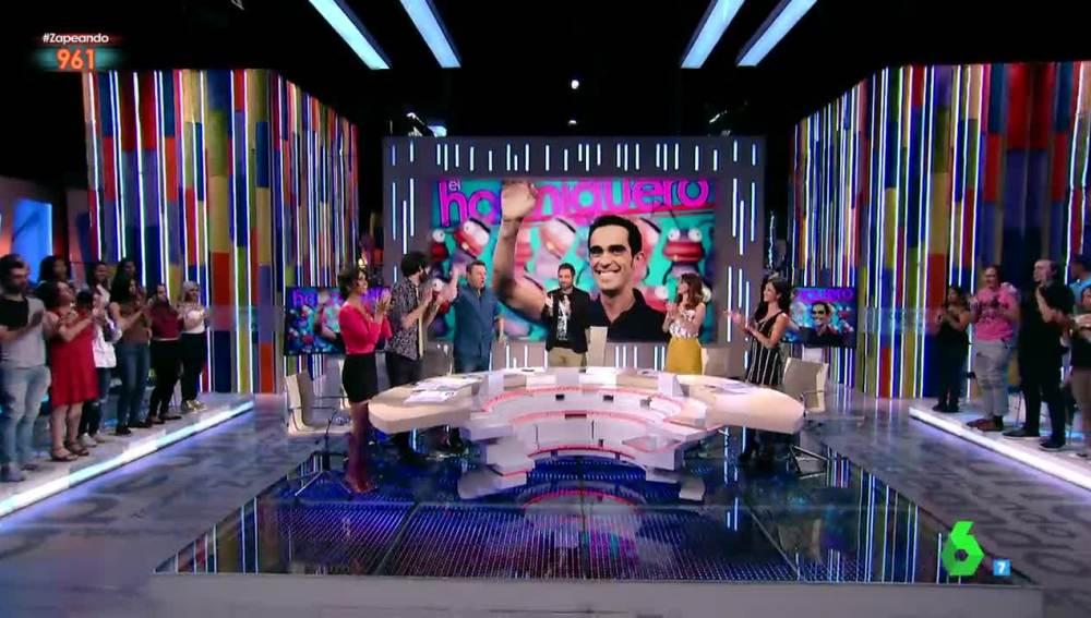 """Zapeando despide con un """"atronador aplauso"""" al Alberto Contador"""