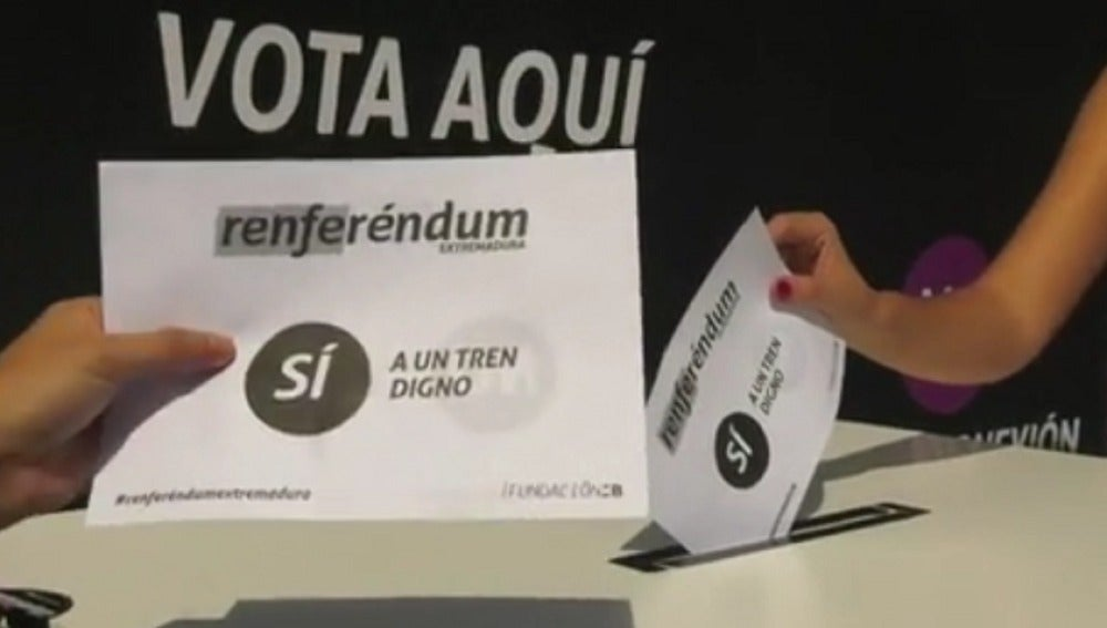 Extremadura celebra un referéndum reivindicativo para mejorar las conexiones ferroviarias con España