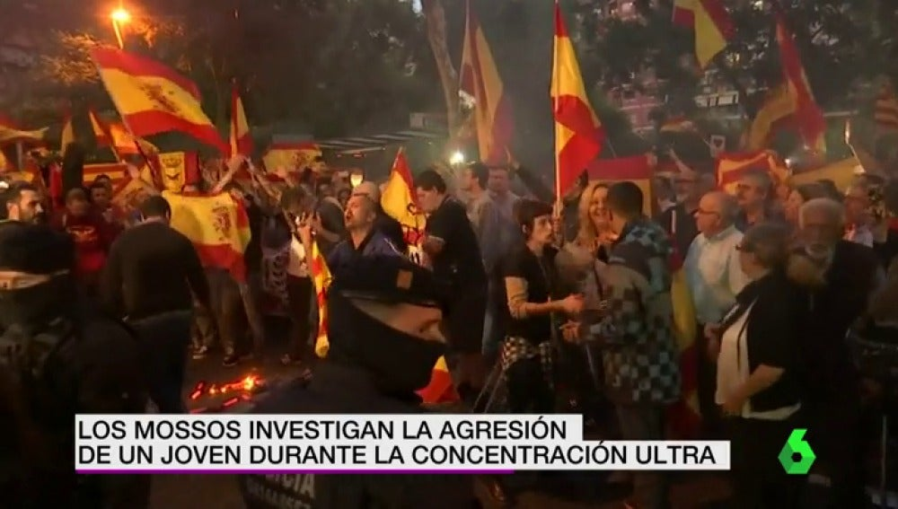 Manifestación frente a la sede de Asamblea Nacional Catalana