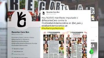 'Recortes Cero' lanza un nuevo manifiesto con 2.000 firmantes más contra el referéndum del 1-O