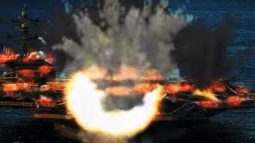 Imagen de una explosión del vídeo de Corea del Norte