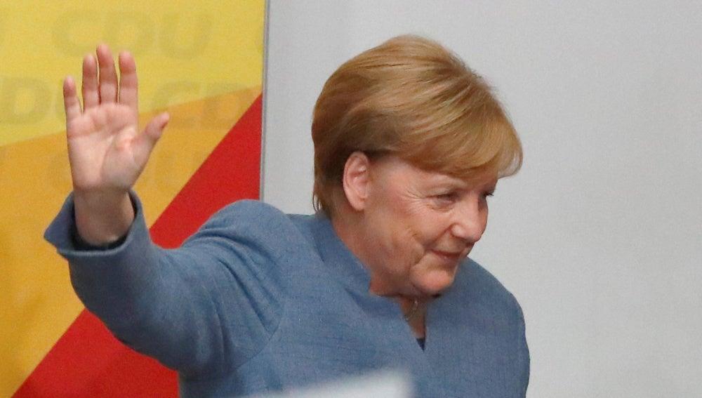 Angela Merkel, tras ganar las elecciones