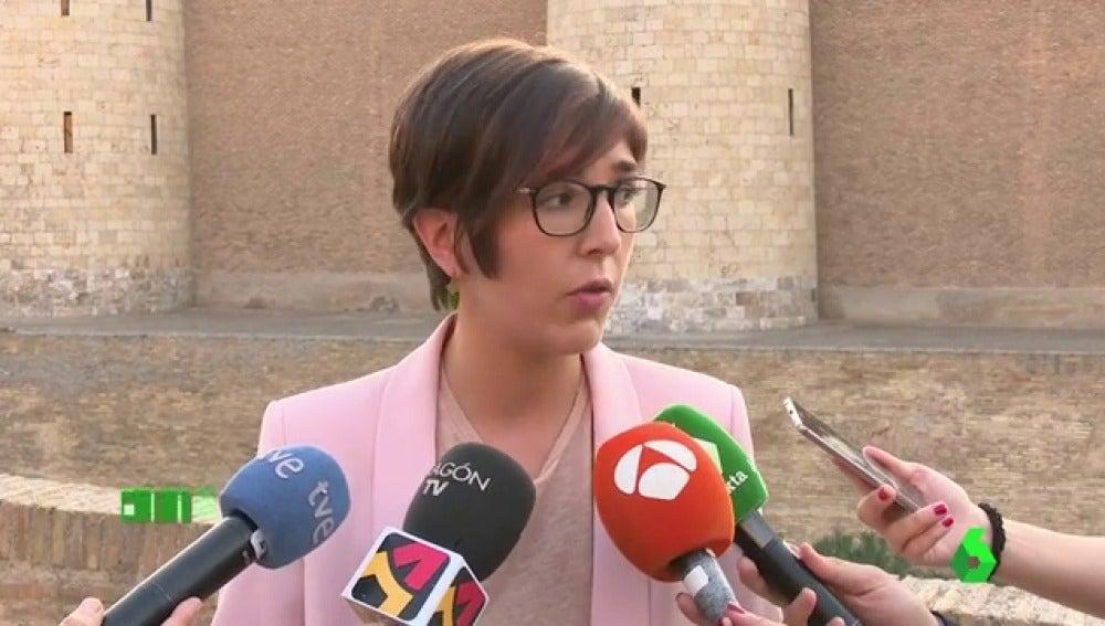 """La presidenta de las Cortes de Aragón denunciará a la Policía el """"botellazo"""" propinado por un ultraderechista"""