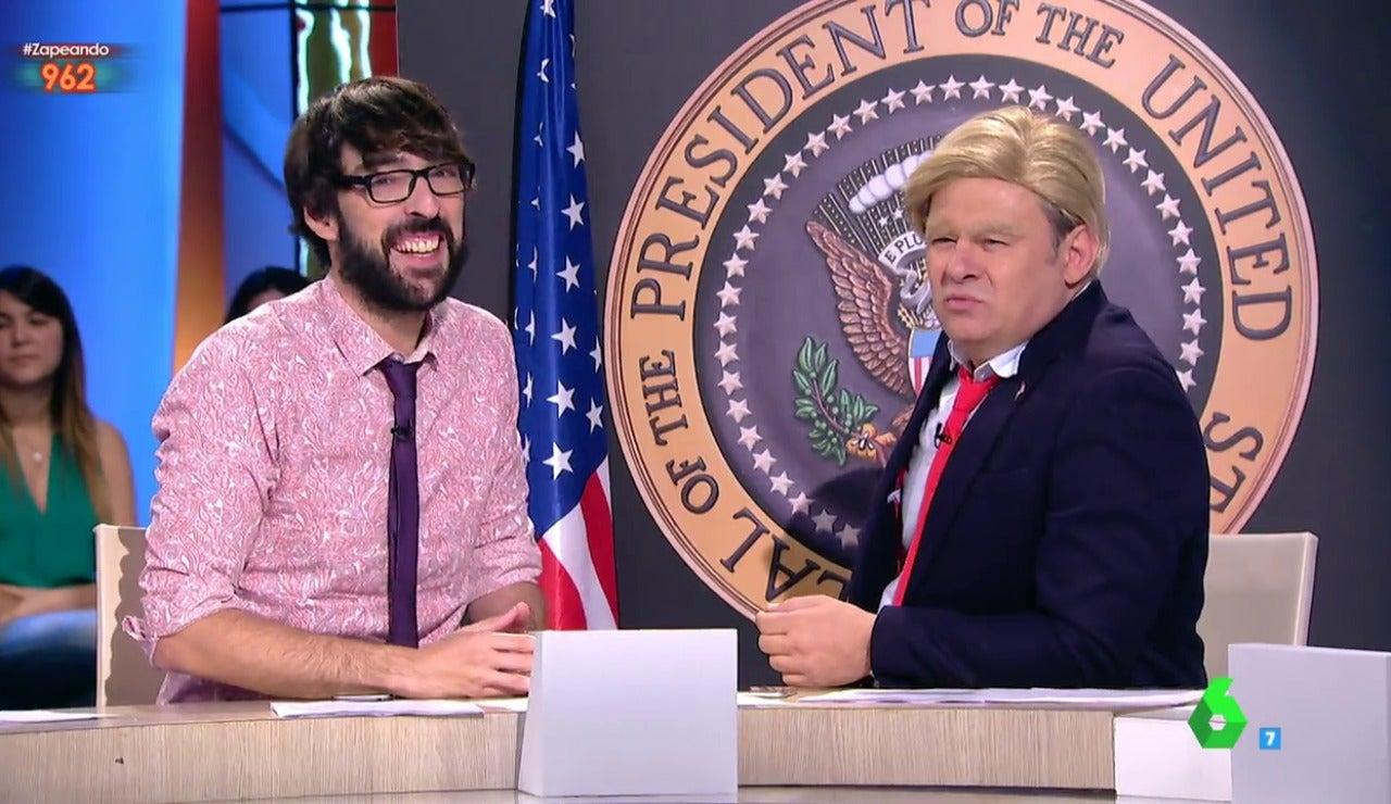 Quique Peinado y Paco Trump en Zapeando