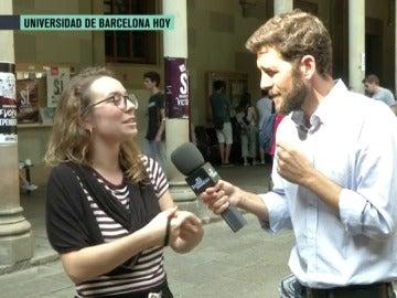 Gonzo con una estudiante catalana