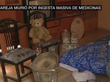 Interior de la casa donde vivieron los cuatro niños con los cadáveres de su madre y su pareja