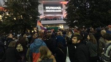 Protesta contra el discurso xenófobo del partido ultraderechista Alternativa para Alemania (AfD)