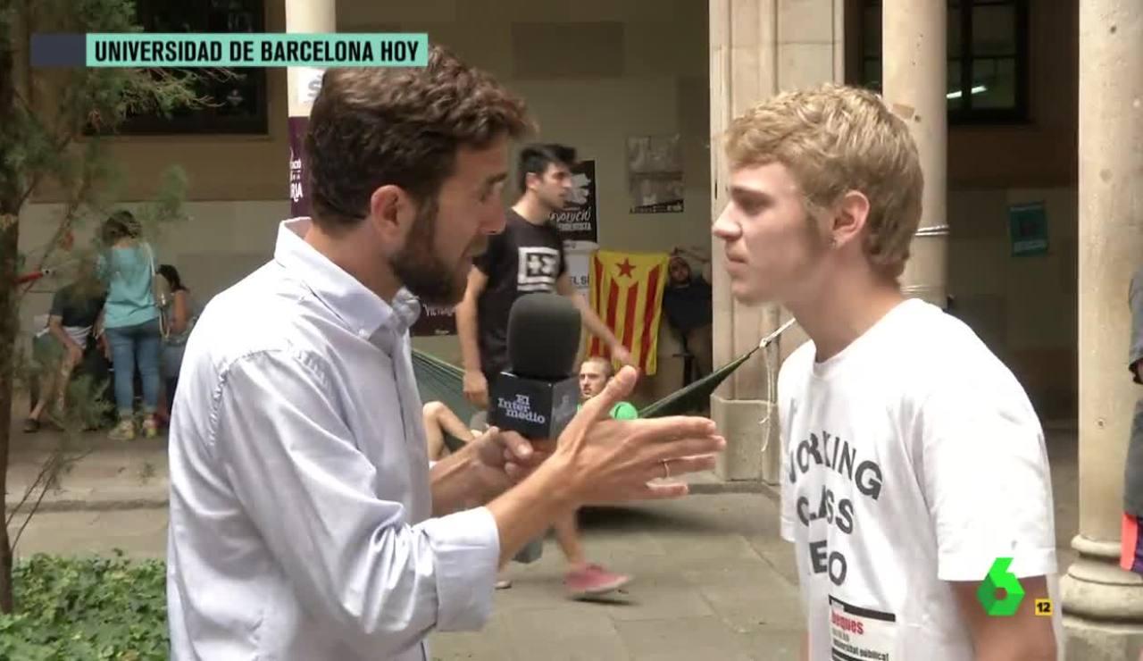 Gonzo y un estudiante catalán