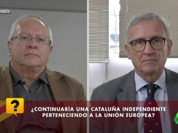 Joan Josep Queralt y Xavier Arbós en El Intermedio