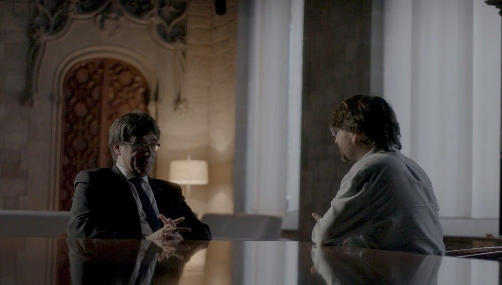 Jordi Évole entrevista a Carles Puigdemont en Salvados
