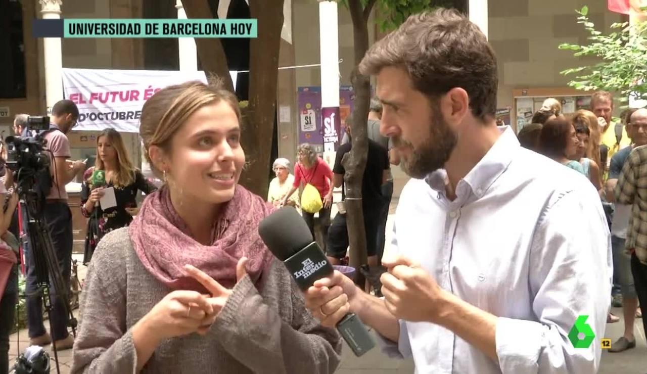 Una estudiante catalana con Gonzo
