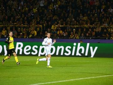El momento en el que Bale marca el 0-1 del Dortmund - Real Madrid