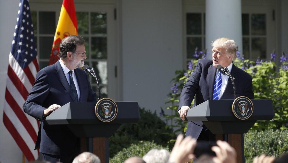 Trump y Rajoy en la Casa Blanca
