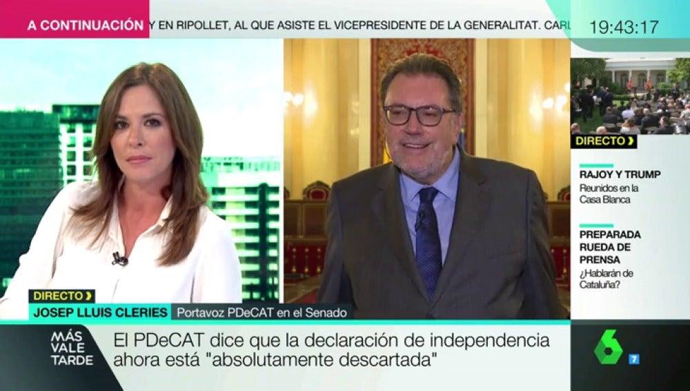 """Cleries (PDeCAT) contradice a Campuzano: """"Si gana el 'sí' en el referéndum se declarará la independencia"""""""