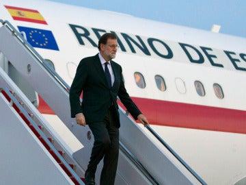 Mariano Rajoy llega a Estados Unidos