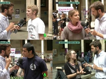 Gonzo con universitarios de Barcelona