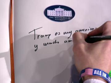 La 'firma' de Mariano Rajoy en el libro de honor de la Casa Blanca